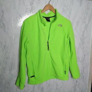 The North Face Neon Fleece Zip Up Jacket Siz 14/16